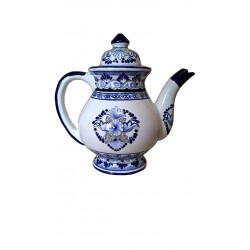 Cafetera Azul Blanco