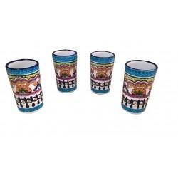 Set de 4 Vasos de Talavera