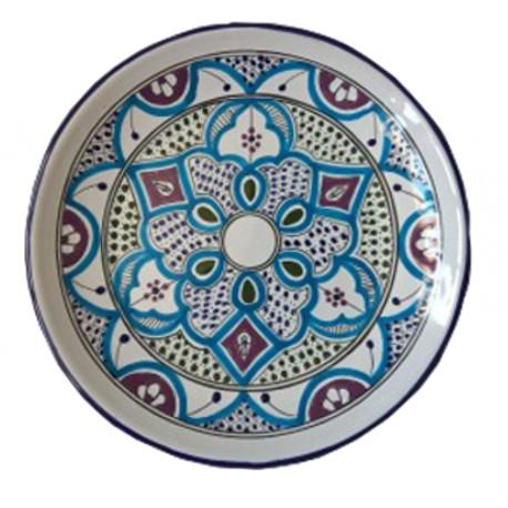 Plato de Talavera Azul