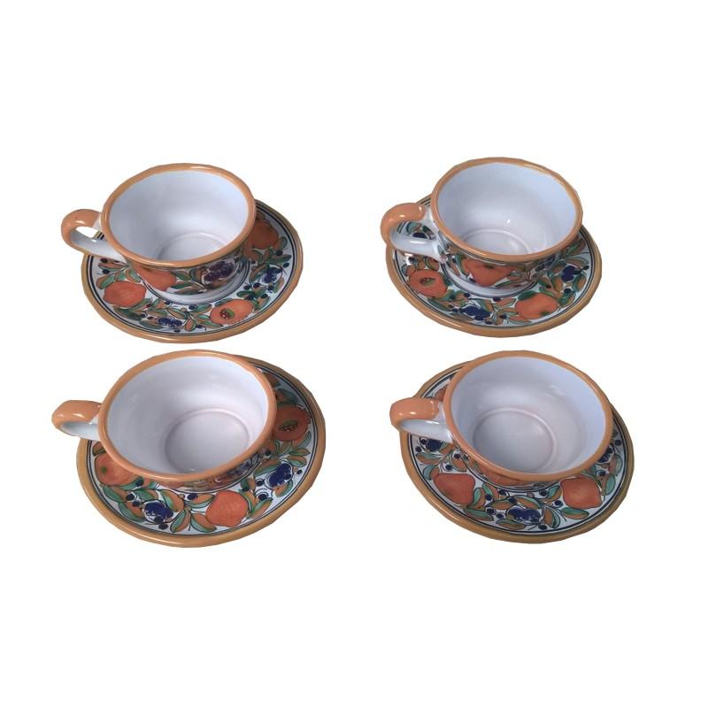 Set de 4 tazas c plato de talavera for Set de platos