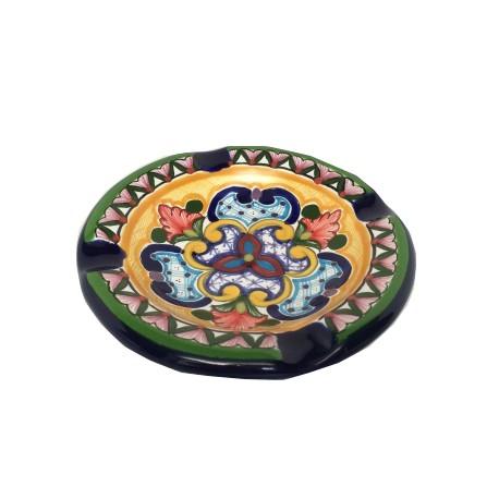 Cenicero de Talavera 10 cm diametro x 3 cm de largo