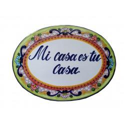 Placa de Talavera Personalizada Grande