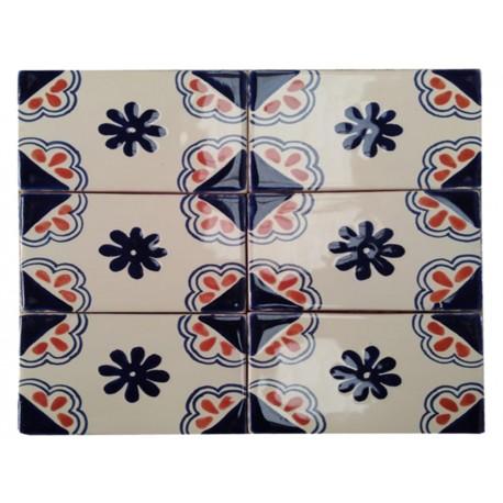 Mosaico Blanco Rojo