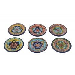 Set de 6 platos de talavera