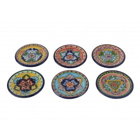 Set de 6 platos de talavera for Set de platos