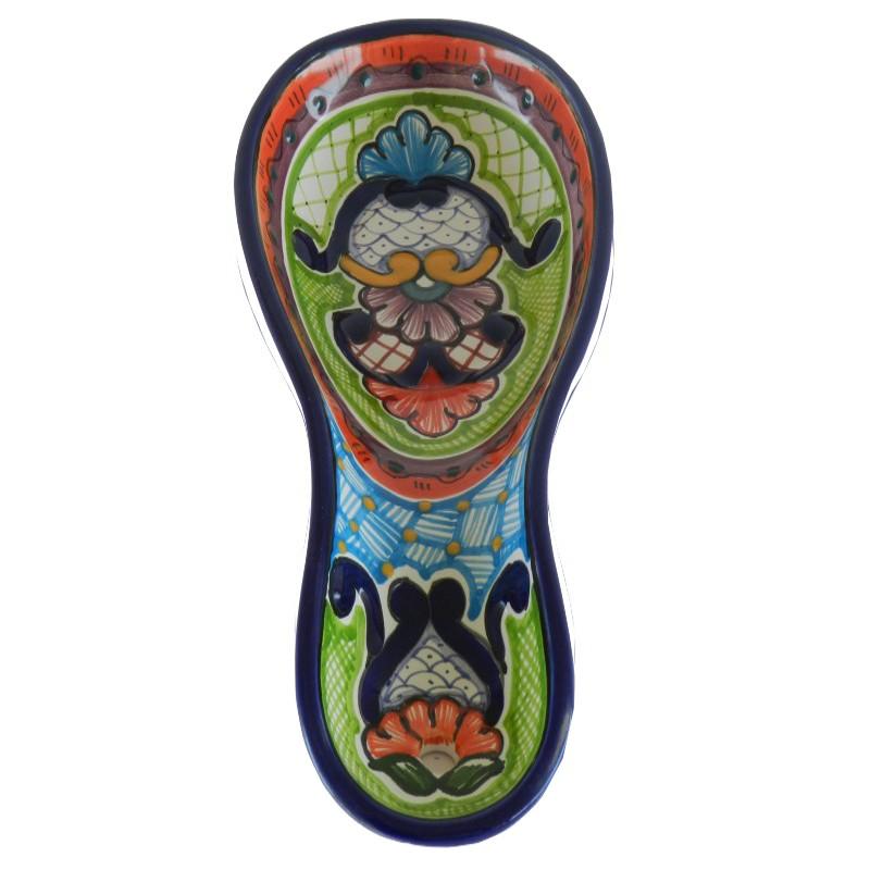 Porta cuchara de talavera for Porta cucharas cocina