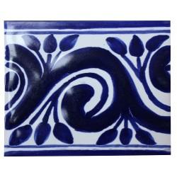 Azulejo de Talavera Azul Cobalto