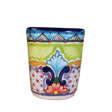 Vaso Tequilero de Talavera 6 cm de diametro x 5 cm de alto