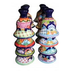 Set de 6 Campanas de Talavera